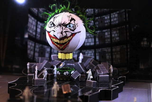 Concept art for the Batman Live arena show promises Joker balloon