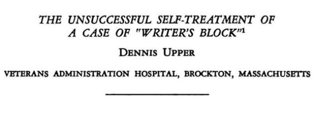 Nasty case of writer's block creates the most brilliant scientific paper ever