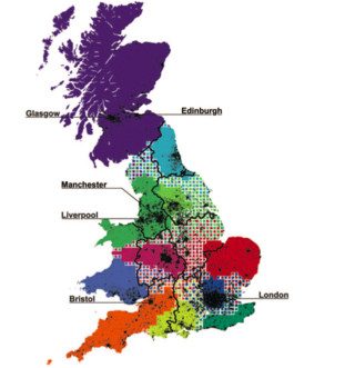 A map of relationships between British citizens, measured in telephone calls