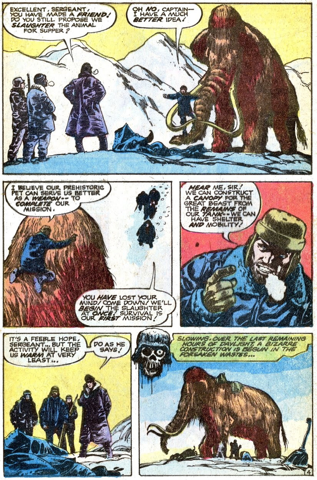 A crazy old comic about Nazis fighting a woolly mammoth