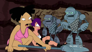Futurama turns intelligent design on its head with robot evolution