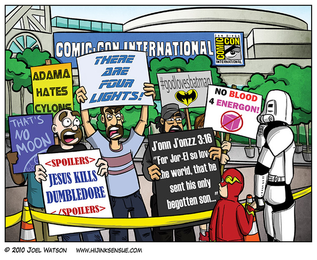 The best Comic-Con protest signs ever