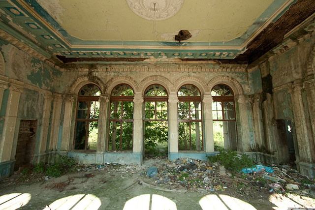 The ruins of a Black Sea resort town
