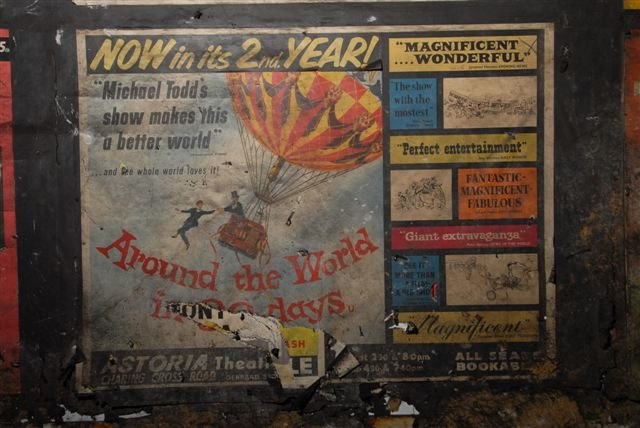 Unearthing the lost advertising of the sealed-off London Underground