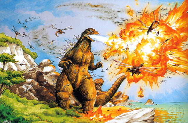 The art that inspired Godzilla and other giant monsters
