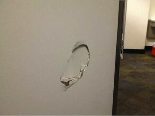 Kenneth Faried Kicked This Hole In A Wall After Last Night's Lo…