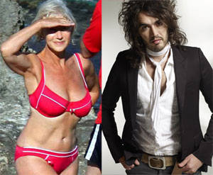 Helen Mirren and Russell Brand Form Saucy Mutual Admiration Society