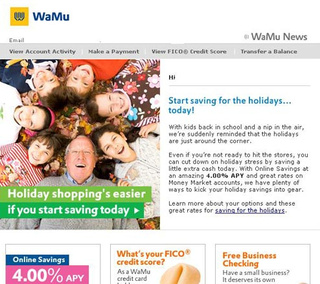 Washington Mutual's last spam to customers