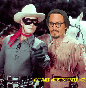 First Look! Disney Mule Johnny Depp Reviving Tonto For New, 'Lone Ranger'-Starved Generation