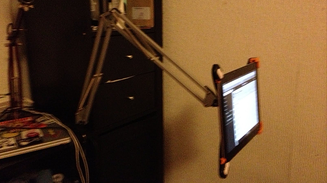 6 Ways To Turn Your House Into A Productive Home Environment: Turn An IKEA Lamp Into A Multi-Positional IPad Holder