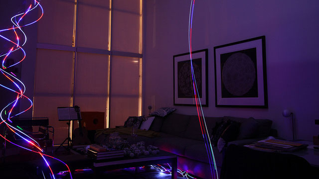 Light Painting With an R/C Helicopter