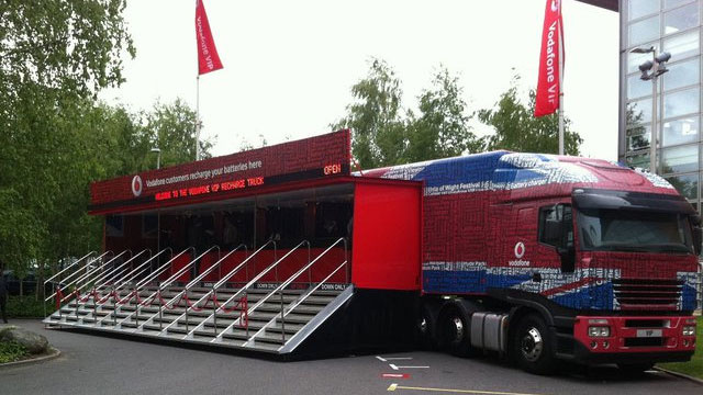 Vodafone's Monster Truck Charges 2,000 Cellphones at Once