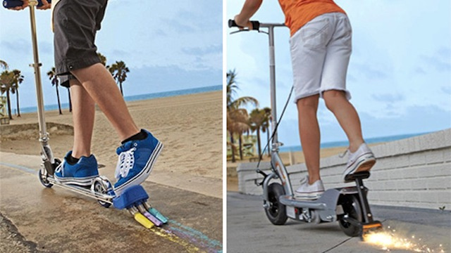 These Official Razor Scooters Shoot Sparks and Make Marks