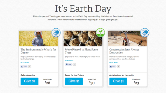 It's Earth Day! Wanna Donate to Worthwhile Non-Profit Organizations?