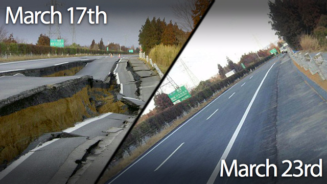 Japan fixed this quake-damaged road in just six days