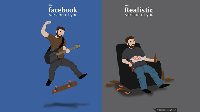 Facebook You Versus Actual You