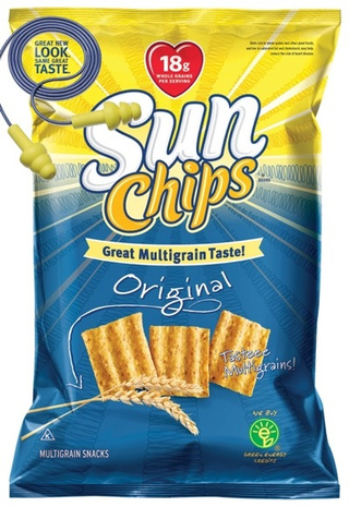 Biodegradable SunChip Bag Returns with Quieter, Ear-Friendlier Packaging