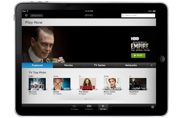 Comcast Injects 3,000 Hours of Streaming Video Into Xfinity TV iPad App