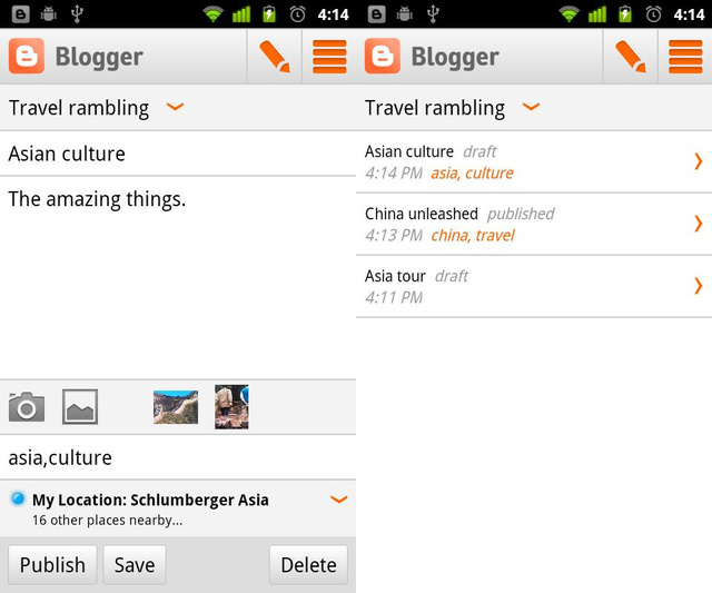 Bloggers Can Finally Blog From Android Phones With Official Blogger App