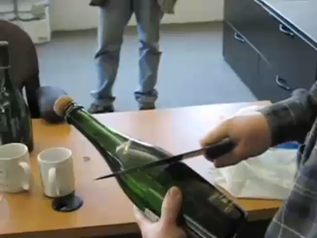 Open a Champagne Bottle with a Saber
