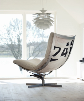 A Chair Made from Sails for When the Wind's Knocked Out of You