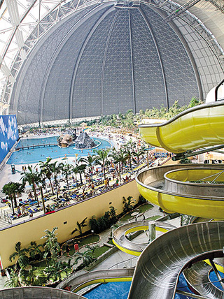 A Former Airship Hangar in Berlin Is Now a Huge Water Park