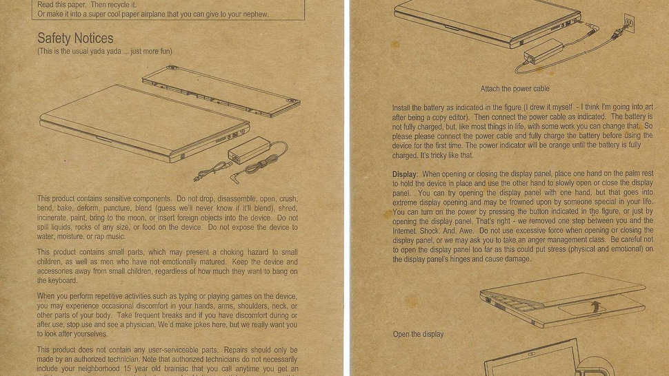 Google's Cr-48 Laptop Totally Revolutionizes... Safety Instructions