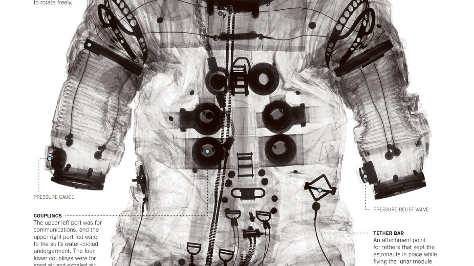 The Moon Spacesuit Under X-Rays
