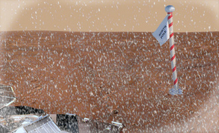 Phoenix Lander Watches Snow Falling on Mars