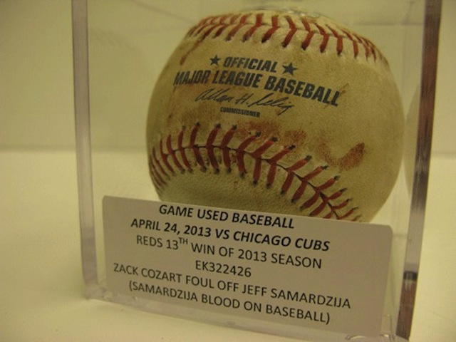 The Reds Auctioned Off A Ball Covered In Jeff Samardzija's Bloo…