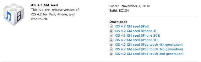 iOS 4.2 Gold Master Now Available To iPhone Developers