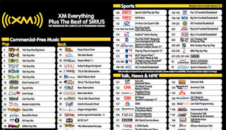 The Complete New XM Sirius Channel Listing (Sorry XM Fans)