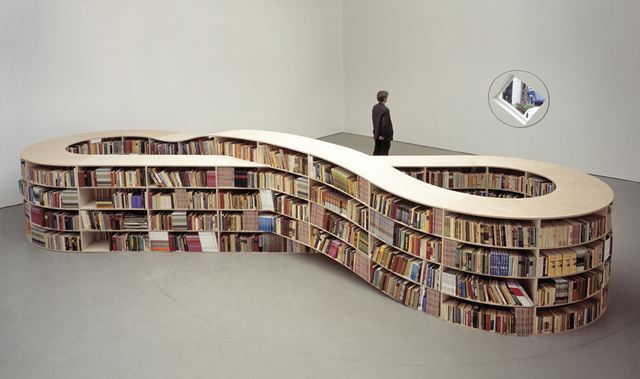 Infinity Bookcase Stores Finite Amount of Books, Is Infinitely Cool Anyway