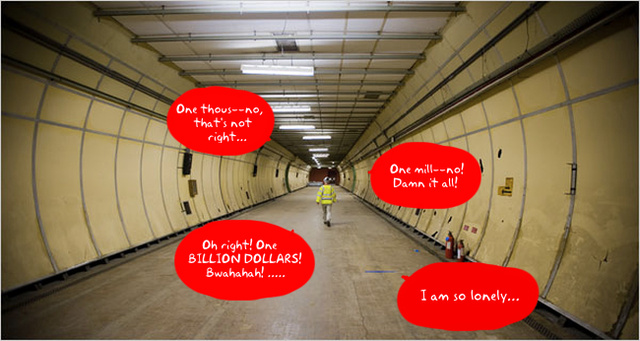 Calling All Wannabe Dr. Evil's: Super Secret London Tunnel Lair For Sale