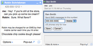 How To Send SMS Text Messages With Gmail's Chat