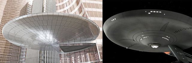 Buildings That Could Be Mistaken For Famous Spaceships