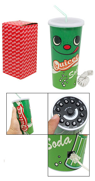 The Soda Cup Phone: Because Hamburgers are SO 2007