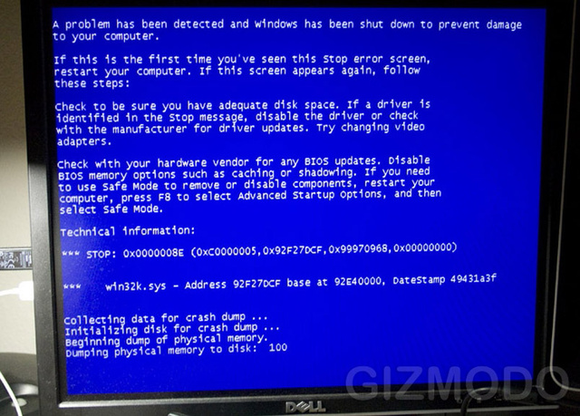 What a Windows 7 BSOD Looks Like