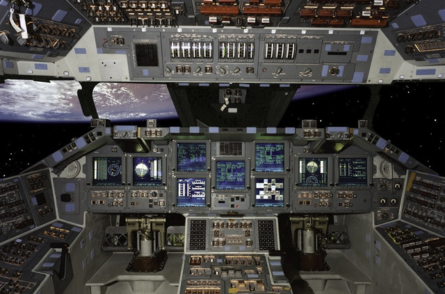 Insane UI: High Res Space Shuttle Cockpit Control Photo