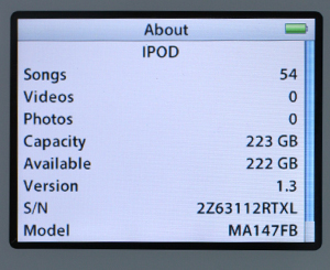 iPod 240 GB Upgrade Official Price and Warranty