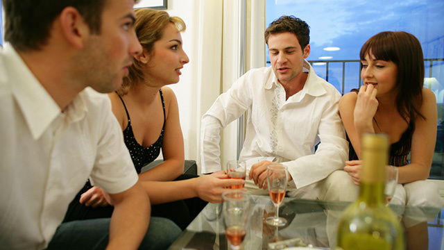 Plan a jumping off topic for meals with coworkers for Group lunch