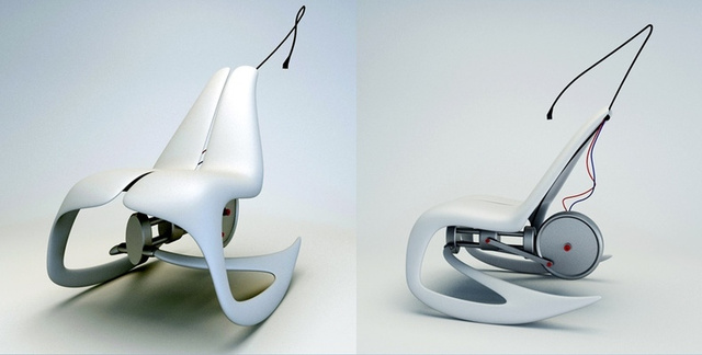 Novague 'Move Your Energy' Rocking Chair Powers Its Own Bright Idea