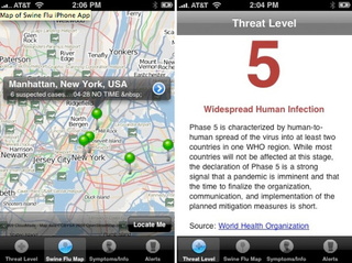 Swine Flu Tracker iPhone App Allows You to Panic Anywhere