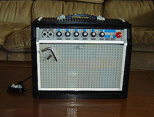 Almost Identical Fender Amp Replica Constructed Out of Old, Unmodified Lego Pieces