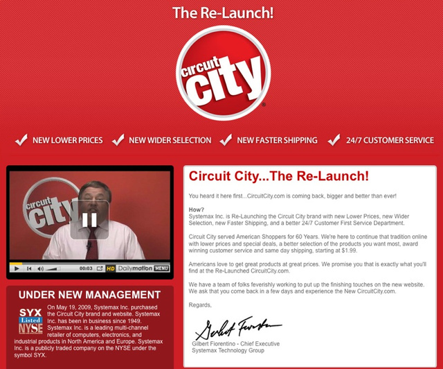Rebooted CircuitCity.com Launching In the Next Few Days