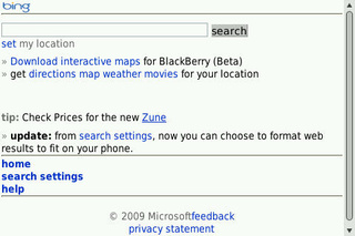 Microsoft Rolls Out Bing Mobile Site, First TV Ad