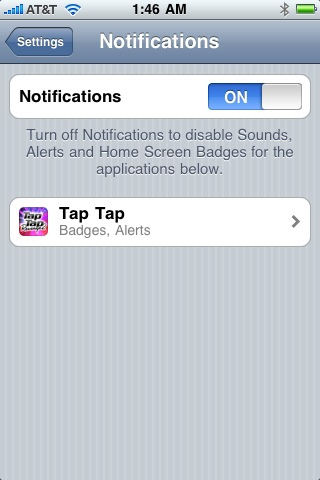 iPhone Push Notifications Discreetly Rolled Out In... Tap Tap Revenge?