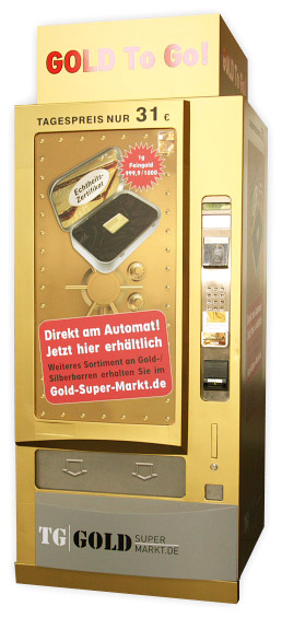 Vending Machine Dispenses Gold Bars To Go