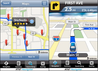 AT&T Wants You to Pay $10 a Month for Their iPhone GPS Navigator