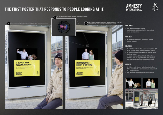 Anti-Abuse Bus Stop Ad Only Batters Women When Nobody's Looking